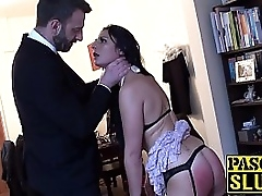 Submissive maid anally..