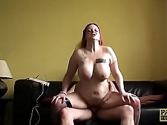 Busty UK assistant hammered..
