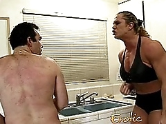 Angry dominatrix with big..